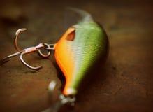 Detalle del enchufe pesquero flotante de Shad Rap del señuelo imagenes de archivo