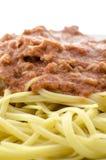 Detalle del espagueti Foto de archivo libre de regalías