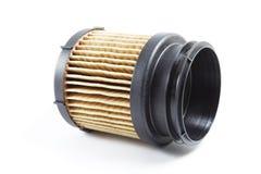 Detalle del filtro de combustible para el coche del motor Imagen de archivo