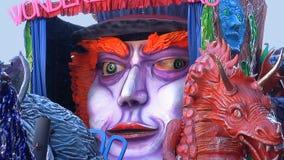 Detalle del flotador de los bancos del país de las maravillas del carnaval del Cento fotografía de archivo libre de regalías