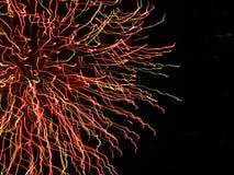 Detalle del fuego artificial Imágenes de archivo libres de regalías
