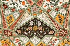 Detalle del Gateway adornado. Fortaleza ambarina. imagenes de archivo