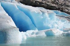 Detalle del glaciar fotos de archivo libres de regalías