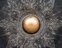 Detalle del gongo del metal fotografía de archivo libre de regalías