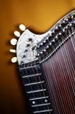 Detalle del instrumento viejo de la cítara Fotografía de archivo libre de regalías