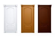 Detalle del interior de la casa de madera de la puerta stock de ilustración