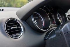 Detalle del interior del coche Fotografía de archivo
