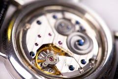 Detalle del interior del reloj Imagenes de archivo