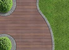 Detalle del jardín en la visión aérea Imagen de archivo libre de regalías