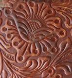 Detalle del Leatherwork Fotografía de archivo libre de regalías
