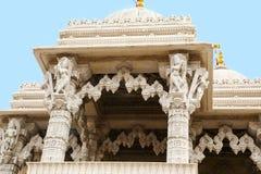 Detalle del Mandir Shri Swaminarayan Temple, Toronto, Canadá Foto de archivo