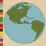Detalle del mapa del mundo y del globo libre illustration