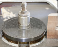 detalle del mashine de la carpintería para moler Imagen de archivo