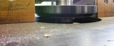 detalle del mashine de la carpintería para moler Imágenes de archivo libres de regalías