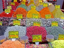 Detalle del mercado de la especia foto de archivo