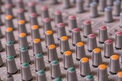 Detalle del mezclador de sonidos Imagen de archivo libre de regalías