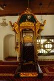 Detalle del mimbar en Masjid Kampung Hulu en Malaca, Malasia Imagen de archivo