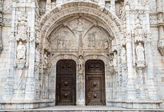 Detalle del monasterio de Hieronymites (DOS Jeronimos de Mosteiro) Fotos de archivo libres de regalías