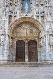 Detalle del monasterio de Jeronimos en Belem, Lisboa Imagen de archivo libre de regalías