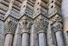 Detalle del monasterio del romanesque del sao Pedro de Ferreira Foto de archivo