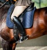 Detalle del montar a caballo Fotografía de archivo libre de regalías
