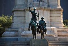 Detalle del monumento de Cervantes imagenes de archivo