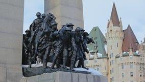 Detalle del monumento de guerra nacional, Ottawa, Canadá fotos de archivo