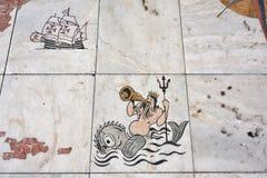 Detalle del monumento a los descubrimientos Lisboa Portugal Fotografía de archivo