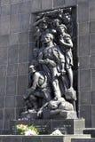 Detalle del monumento a los héroes del ghetto en Varsovia Fotos de archivo