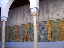 Detalle del mosaico de la fayenza de la mezquita de Kairouan Imagen de archivo