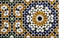 Detalle del mosaico de un palacio viejo en Marrakesh Imagen de archivo libre de regalías