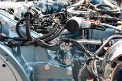 Detalle del motor del carro pesado imagenes de archivo