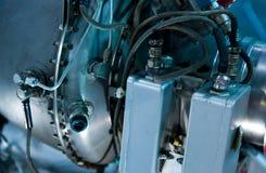 Detalle del motor de jet Imagen de archivo