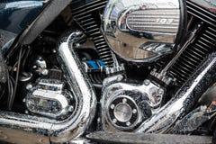 Detalle del motor de la motocicleta Foto de archivo libre de regalías