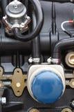 Detalle del motor diesel Imagen de archivo libre de regalías
