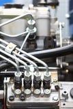 Detalle del motor diesel Foto de archivo libre de regalías