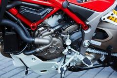 Detalle del motor moderno de la motocicleta Fotografía de archivo libre de regalías