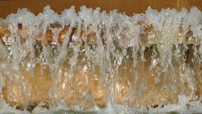 Detalle del movimiento del agua Cámara lenta metrajes