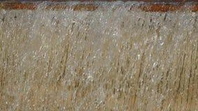 Detalle del movimiento del agua Cámara lenta almacen de video