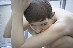 Detalle del museo de Aros del muchacho Imagen de archivo libre de regalías
