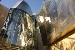 Detalle del museo de Guggenheim, Euskadi, España Imagen de archivo libre de regalías