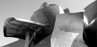 Detalle del museo de Guggenheim, Euskadi, España Imagenes de archivo