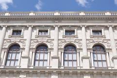 Detalle del museo Viena de la historia natural Foto de archivo