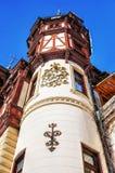 Detalle del Neo-renacimiento de Rumania del castillo de Peles foto de archivo