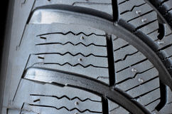 Detalle del neumático Fotos de archivo