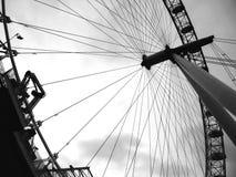 Detalle del ojo de Londres foto de archivo