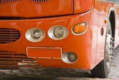 Detalle del omnibus rojo imagen de archivo libre de regalías