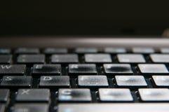 Detalle del ordenador portátil Foto de archivo