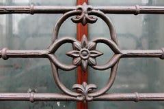 Detalle del ornamental de las barras de hierro de Wroght Fotografía de archivo libre de regalías