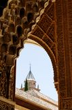 Detalle del palacio de Alhambra fotos de archivo libres de regalías
